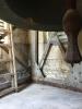 Glockenstuhlsanierung ohne Überzug mit Rostspuren